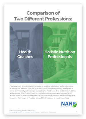 Health Coach Holistic Nutrition Professional Comparative Analysis